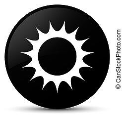 Sun icon black round button