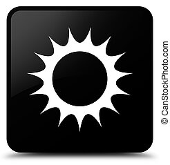 Sun icon black square button