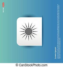 Sun Icon - Blue Sticker button
