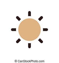Sun icon brown color
