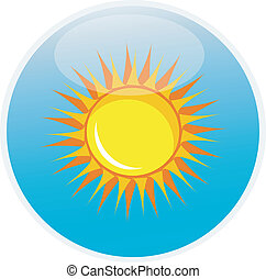 sun icon, button