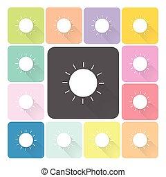 Sun Icon color set vector illustration