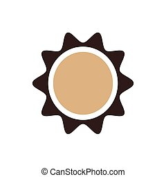 Sun icon design brown color