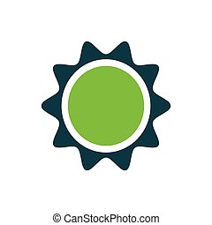 Sun icon design green