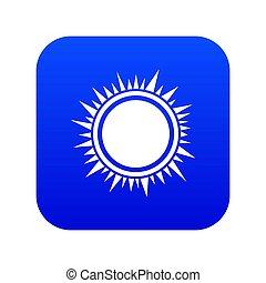 Sun icon digital blue