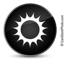 Sun icon elegant black round button