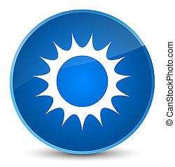 Sun icon elegant blue round button