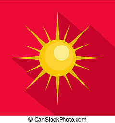 Sun icon, flat style