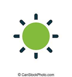 Sun icon green