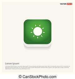 Sun Icon Green Web Button