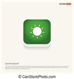 Sun Icon Green Web Button