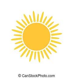 Sun icon illustration