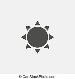 Sun icon in black color. Vector illustration eps10
