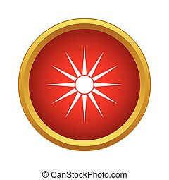Sun icon in simple style