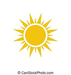 Sun icon isolated on white background. Vector illustration