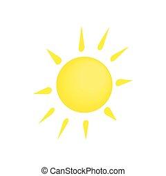 Sun icon, isometric 3d style