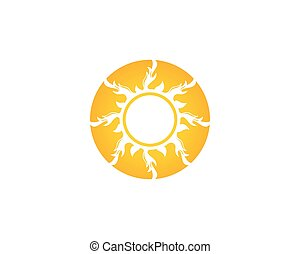 Sun icon logo template vector
