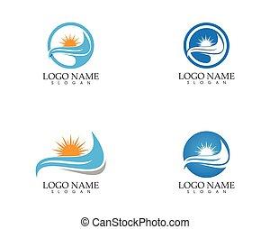 Sun icon logo vector template