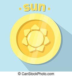 Sun Icon Nature Golden YEllow Logo