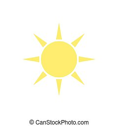 Sun. Icon on isolated background