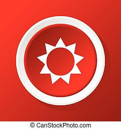 Sun icon on red