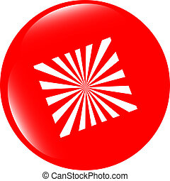 Sun Icon on Round Black Button Collection Original Illustration
