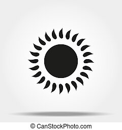 Sun icon on white background for graphic and web design, Modern simple vector sign. Internet concept. Trendy symbol for website design web button or mobile app