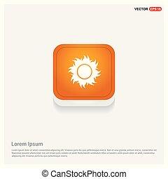Sun Icon Orange Abstract Web Button