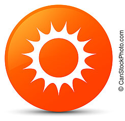 Sun icon orange round button