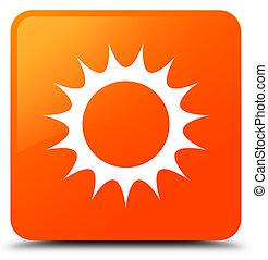Sun icon orange square button