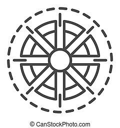 Sun icon, outline style