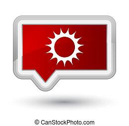 Sun icon prime red banner button