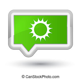 Sun icon prime soft green banner button