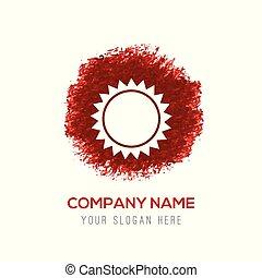 Sun icon - Red Water Color Circle Splash
