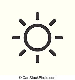 Sun icon - simple flat design isolated on white background, vector