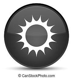 Sun icon special black round button