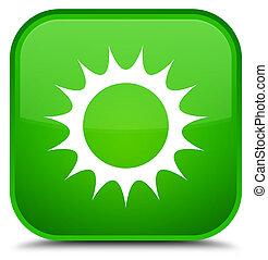 Sun icon special green square button