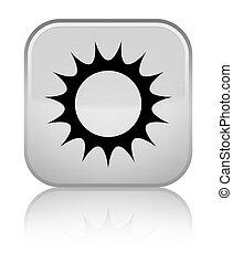 Sun icon special white square button