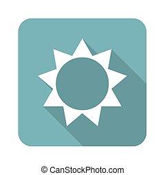 Sun icon, square