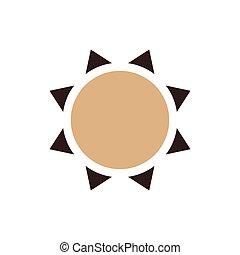 Sun icon vector brown color