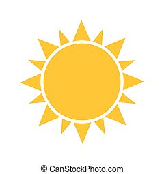 Sun icon. Vector illustration