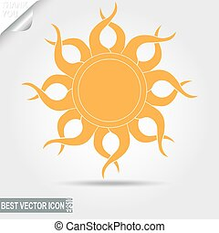 sun icon - vector illustration
