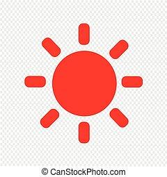 Sun icon vector illustration