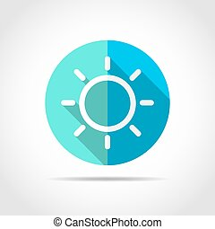Sun icon. Vector illustration.
