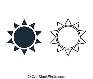 Sun Icon Vector Logo Template Illustration Design