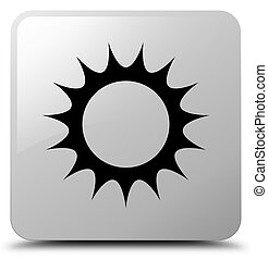 Sun icon white square button