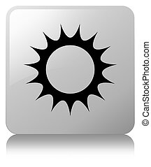 Sun icon white square button