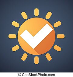 Sun icon with a survey sign