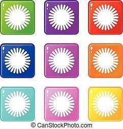 Sun icons 9 set