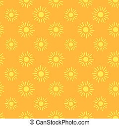 Sun icons seamless pattern